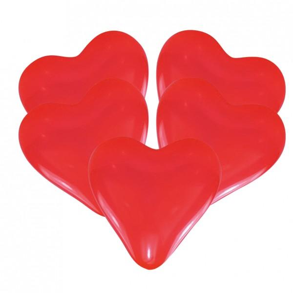 25 globos corazón Giulia rojo 30cm