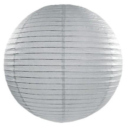 Lantern Lilly silver gray 35cm