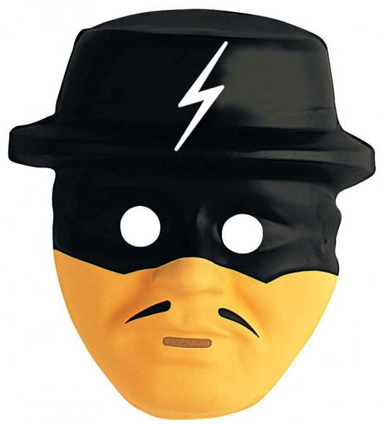 Schwarz-Gelbe Kinder Banditenmaske Zorro
