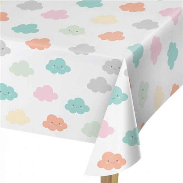 Small cloud baby shower tablecloth 2.6m