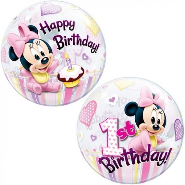 Minnies 1st Birthday ball balloon 56cm