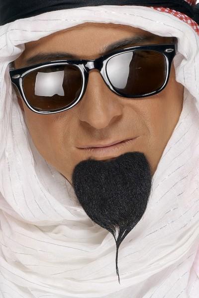 Arabischer Herren Bart Schwarz
