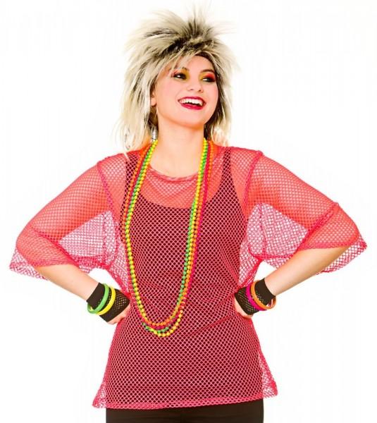 Neonpinkes Netzhemd Für Damen