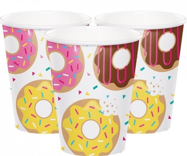 8 bicchieri di carta Donut Candy Shop 266ml