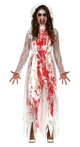 Schaurige Zombiebraut Damenkostüm