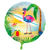 Surfer Flamingo Folienballon 45cm
