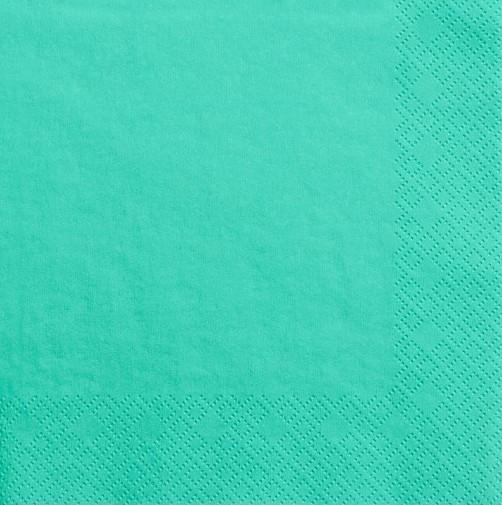 20 serviettes Scarlett Acqua 33cm