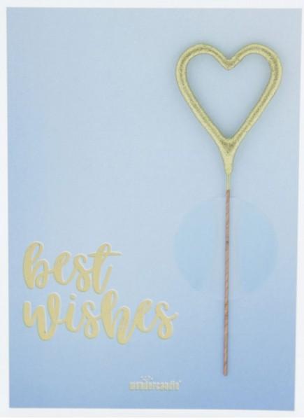 Blue Best Wishes Wondercard