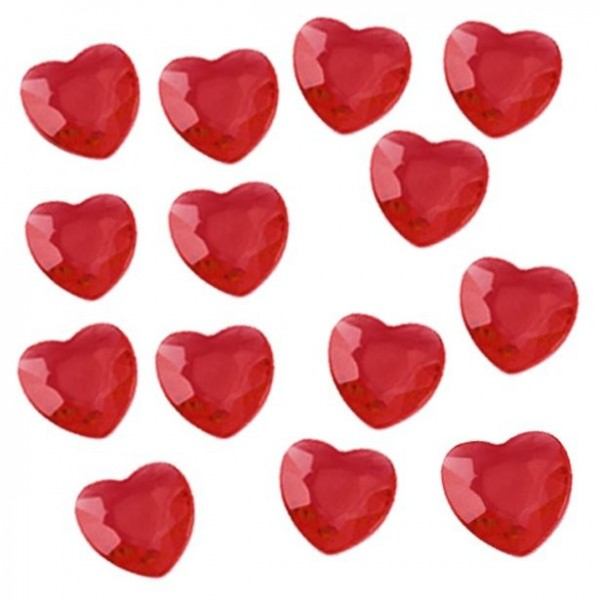Red scattered heart diamonds 28g