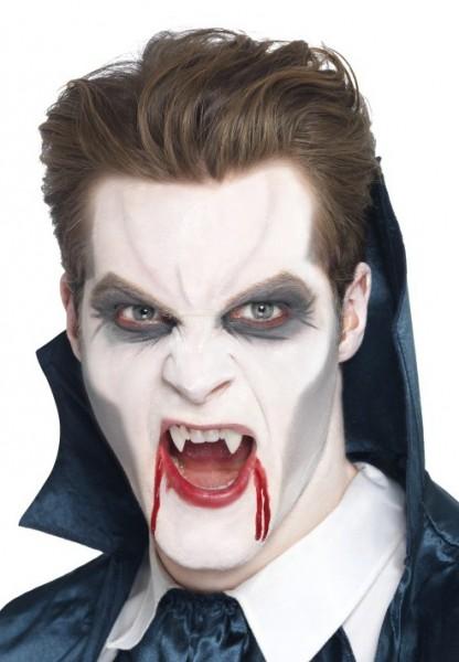Maquillaje vampiro negro-blanco-gris