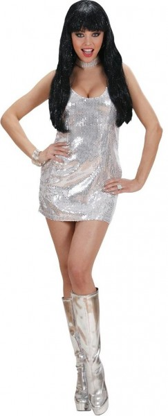Party Fever Paillettenkleid Silber