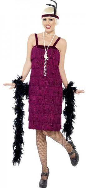 Jessy Jazz Flapper Kostüm Weinrot 1