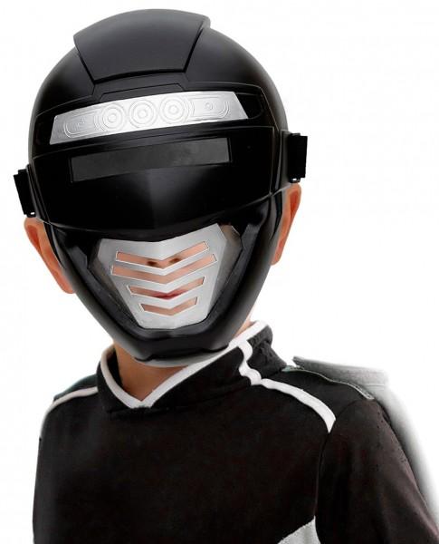 Premium Roboter Maske Schwarz