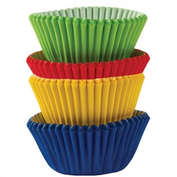 100 mini caisses à muffins colorées 3cm