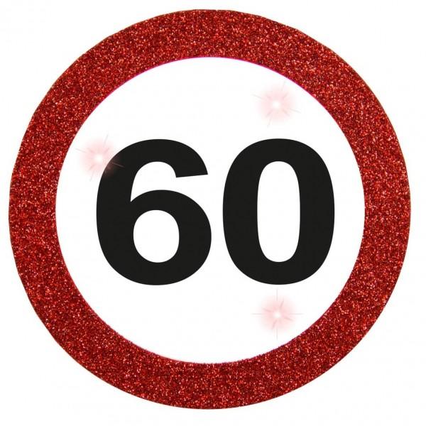LED Verkehrsschild 60 Button