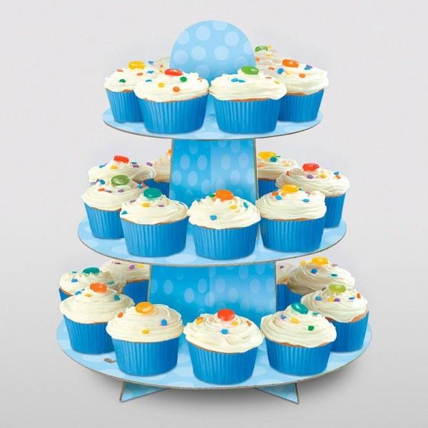 Zuckersüßer Cupcake Ständer Blau