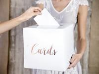 Kartenbox Elaine roségold
