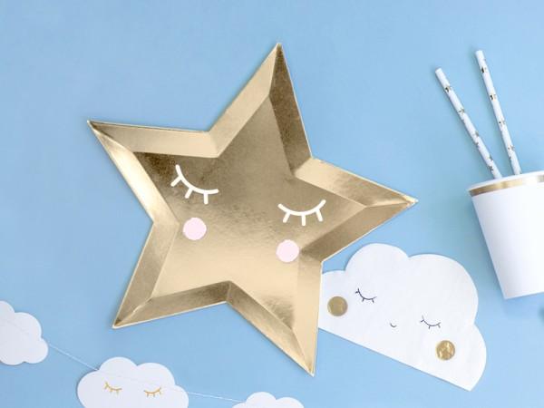 6 assiettes en papier étoiles Heaven Sent 27cm