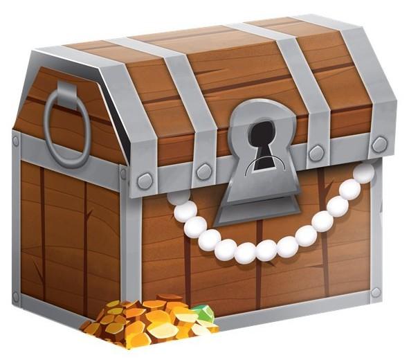 8 Piraten Crew Geschenkboxen 8,3cm