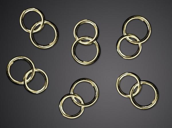 25 anillos de bodas de oro decoración dispersa
