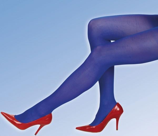 Blickdichte Blaue Strumpfhose