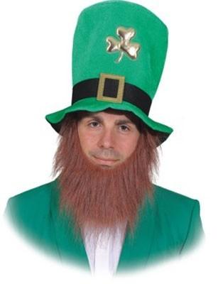 St Patricks Day-hoed met rode baard