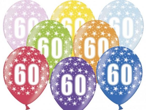 6 Wild 60th Birthday Luftballons 30cm