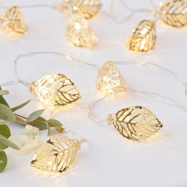 Golden vine leaf fairy lights 1.5m