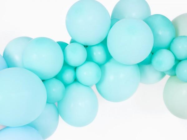 10 Partystar Luftballons minntürkis 27cm