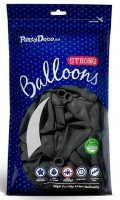 10 Partystar Luftballons anthrazit 30cm
