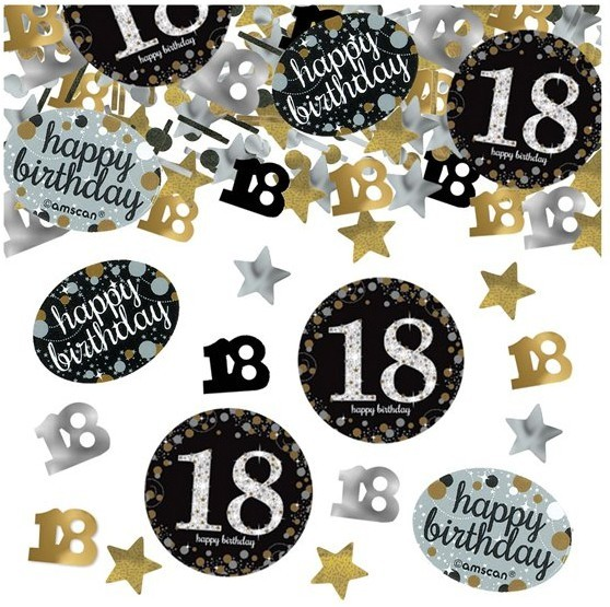 Golden 18th Birthday sprinkle decoration 34g