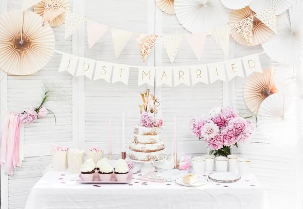 DIY freshly married garland white 1.55m
