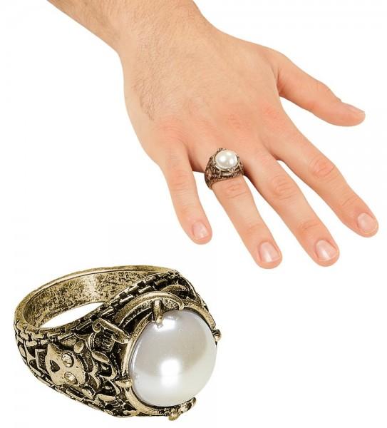 Piraten Perlenklunker Ring