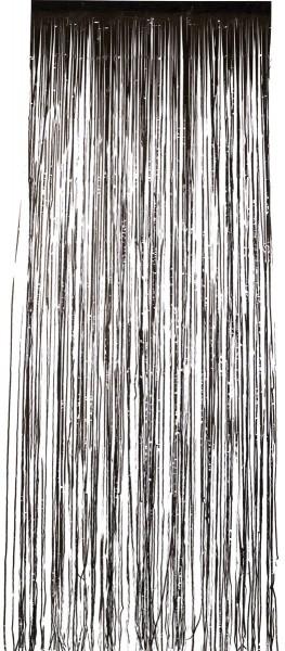 Misteriosa cortina de puerta de noche aterradora negra 91 x 244 cm