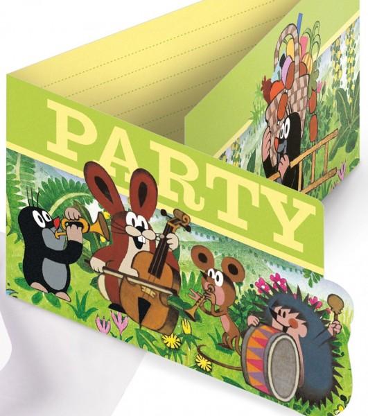 8 Der kleine Maulwurf Einladungskarten PARTY