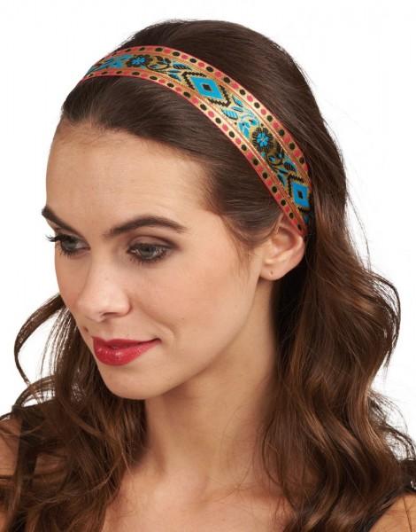 Traditionelles Ethno Ornamenten Haarband