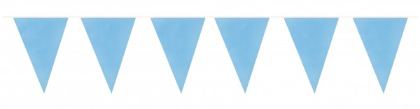 Himmlische Wimpelkette Hellblau 10m