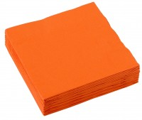 20 Party-Servietten 25cm orange