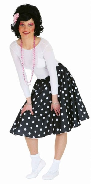 Rocky circle skirt black