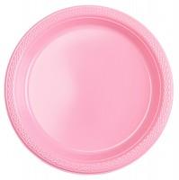 10 Plastik Teller Mila hellrosa 18cm