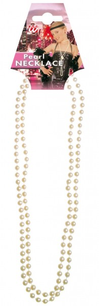 Glamouröse Perlenkette Weiß 57cm