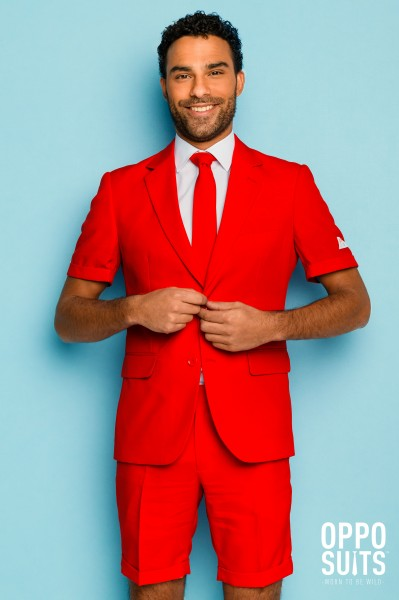 OppoSuits Summer Red Devil Anzug 1