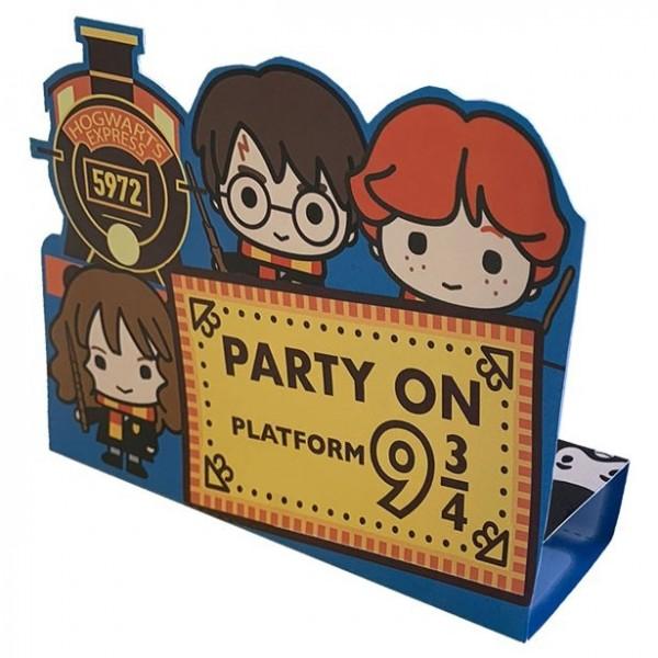 8 cartes d'invitation Harry Potter