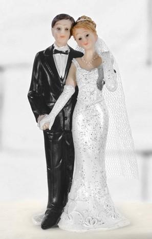 Ciasto Figurka para ślubna Romans 11cm
