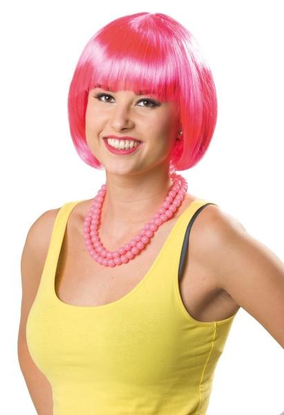 Bob Perücke Cleo neon pink