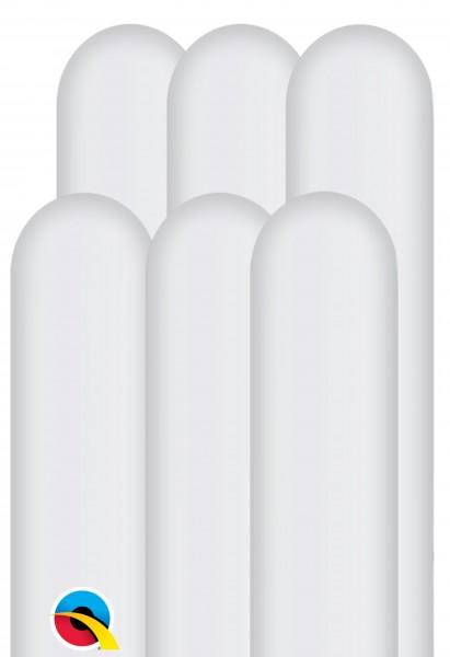 100 Modellierballons 260Q weiß 1,5m