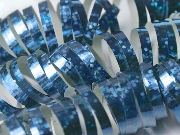 1 rolka Błyszczące Serpentyny Niebieskie