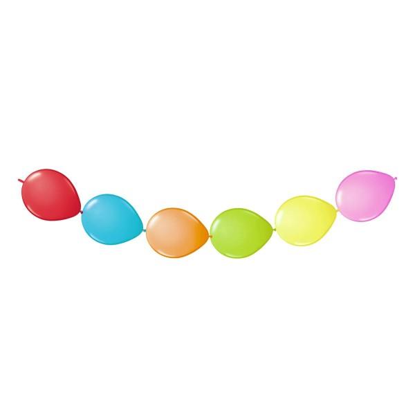 Guirnalda de globos de colores con 6 globos 2m