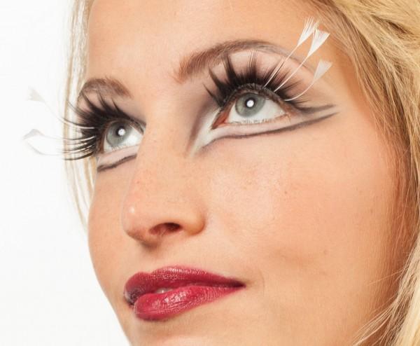 Schöne Feder Wimpern Weiß