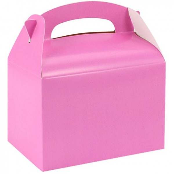 Party box for giveaways in pink